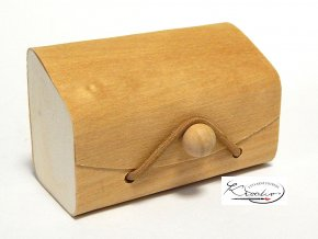 Dřevěná krabička na gumičku 7,55 x 4,5 x 3,5 cm