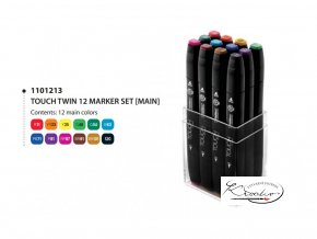 TOUCH Twin Marker - Main Colors 12