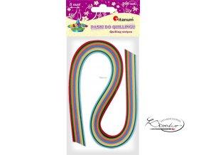 Proužky na quilling, mix barev / 200 ks / 5 mm