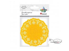 Dekorativní papírové rozetky - žluté