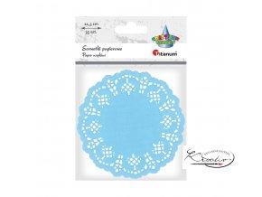 Dekorativní papírové rozetky - světle modré