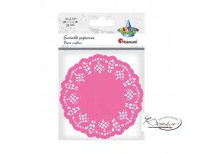 Dekorativní papírové rozetky - růžové