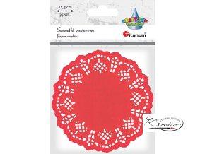 Dekorativní papírové rozetky - červené