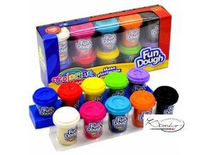 Modelovací hmota - Colorino Fun Dough 10 x 56 g