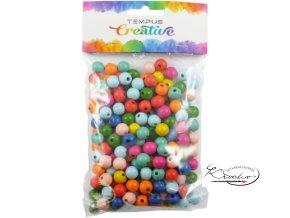 Korálky dřevěné Mix barev 200 ks