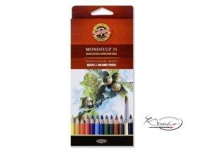 Akvarelové pastelky Mondeluz 24 ks