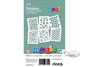 Magic papírové šablony sada W1 - Struktury