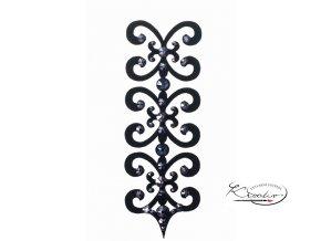 florence 12 ornamentNalepovací šperky - Florence ornament černý