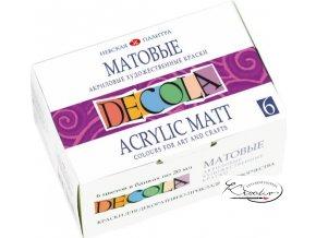 Akrylové barvy DECOLA matné 6