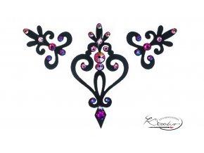 NALEPOVACÍ ŠPERKY - Verona černá růžová