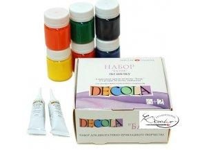 Sada barev Decola na batikování 6 + 2