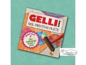 """Gelli plate - gelová podložka 4"""" - kruh"""