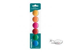 Magnety CONCORDE barevné 30 mm / 6 ks