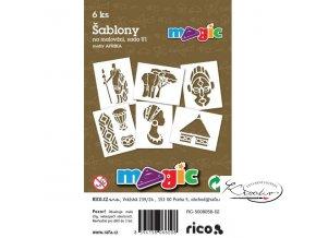Magic papírové šablony sada U1 - Afrika