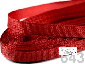 Stuha taftová - 9 mm x 10m - Červená