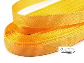 Stuha taftová - 9 mm x 10m - Žlutá