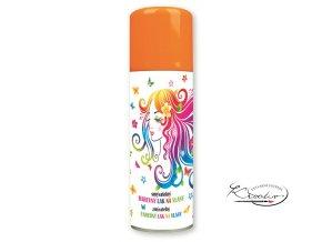 Barevný lak na vlasy smývatelný 125 ml - oranžový