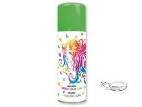 Barevný lak na vlasy smývatelný 125 ml - zelený