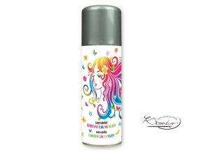 Barevný lak na vlasy smývatelný 125 ml - stříbrný