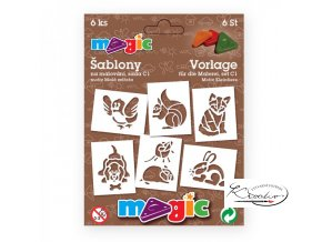 Magic papírové šablony sada C1 - Malá zvířata