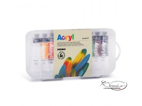Akrylové barvy Primo 10 x 18 ml