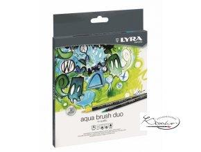 Sada uměleckých fixů LYRA Aqua Brush Duo 12