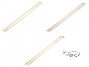 Přírodní bambusové jehlice 3,5 mm / 35 cm