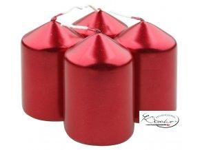 Svíčka válec 40 x 80 cm / 4 ks - červená