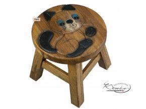 Dřevěná dětská stolička KOŤÁTKO