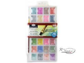 Akvarelové barvy perleťové 28 ks + štětec
