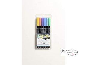 Sada uměleckých fixů LYRA Aqua Brush Duo 6 - Pastel Tones