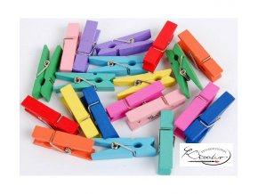 Kolíčky dekorační barevné Big 20 ks / 3,5cm