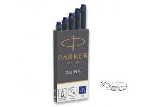Inkoustové bombičky Parker 5 ks - modré