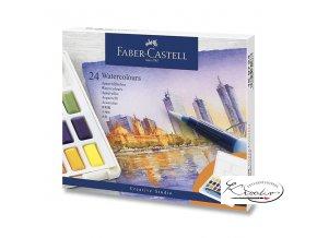Akvarelové barvy Faber-Castell 24