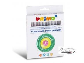 Popisovače štětečkové Primo 12 ks