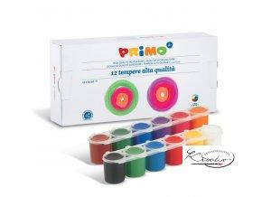 Temperové barvy PRIMO 12 x 25 ml