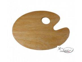 Dřevěná paleta oválná 30 x 40 cm