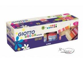 Sada akrylových barev Giotto Decor matt 12 x 25 ml