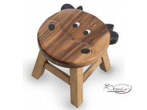 Dětská dřevěná stolička - KRAVIČKA