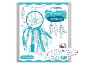 Kreativní sada - Lapač snů - tyrkysový