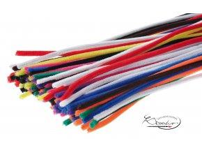 Žinilkový drát 50 x 14 cm / 100 ks - mix barev