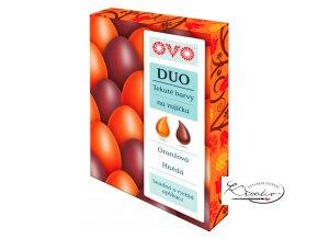 OVO Tekuté barvy DUO oranžová / hnědá