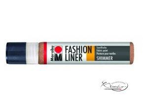 Fashion Liner Glitter - 585 Měděná