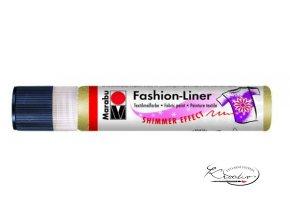 Fashion Liner Glitter - 583 Zlatá