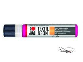 Textilní liner - 334 Neon růžová