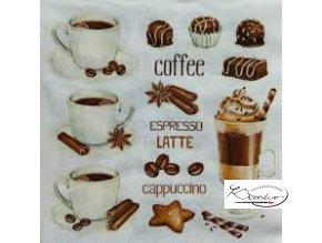 Ubrousek 33 x 33 cm / 20 ks - Coffe cups