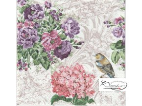 Ubrousek 33 x 33 cm / 20 ks - Charming Garden