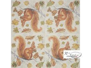 Ubrousek 33 x 33 cm / 20 ks - Squirrel on Branch