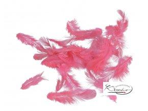 Peříčka 10g - neon růžová