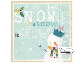 Ubrousek 33 x 33 cm / 20 ks - Let it Snow